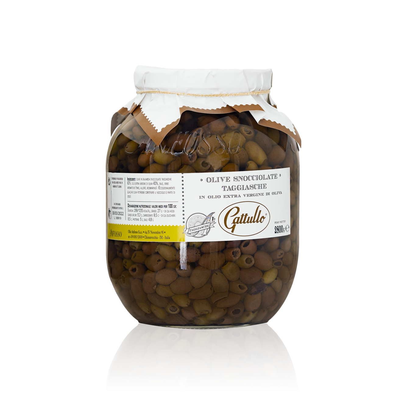 Olive Snocciolate Taggiasche 2800 gr